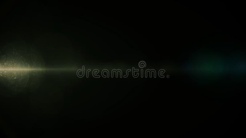 Chiarore reale della lente sparato in studio sopra fondo nero Facile aggiungere come la sovrapposizione o foto del filtro a sipar fotografia stock