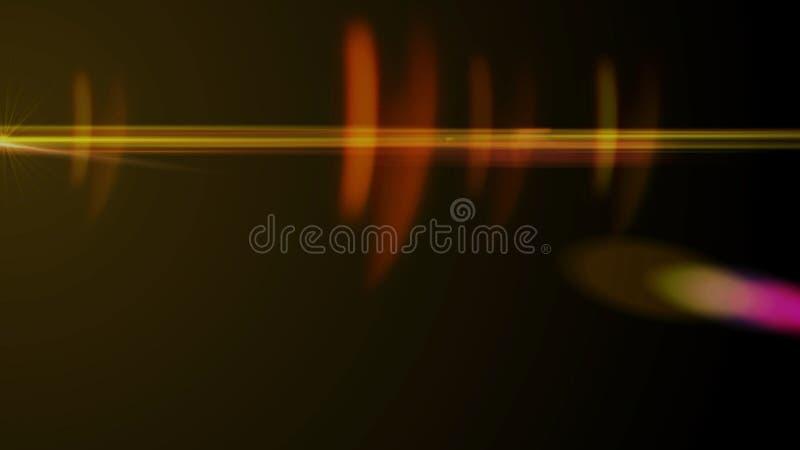 Chiarore reale della lente sparato in studio sopra fondo nero Facile aggiungere come la sovrapposizione o foto del filtro a sipar royalty illustrazione gratis