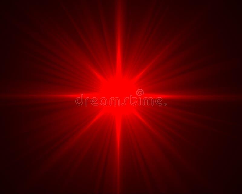 Chiarore rosso illustrazione vettoriale
