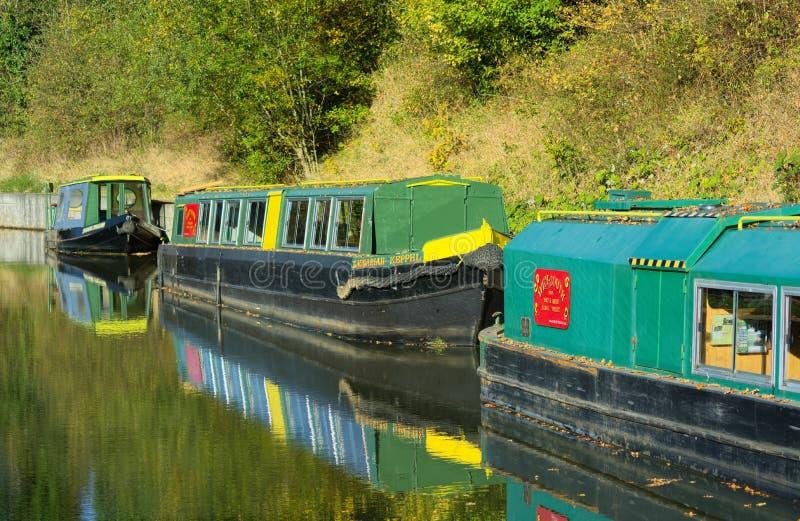 Chiatte del canale Wey & Arun Canal Loxwood, Surrey, Regno Unito immagine stock libera da diritti