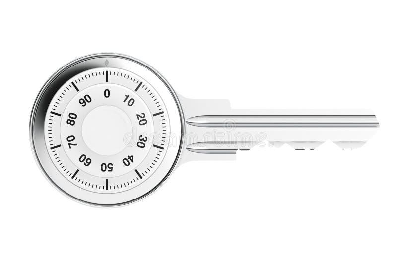 Chiave come serratura di cuscinetto sicura fotografia stock libera da diritti