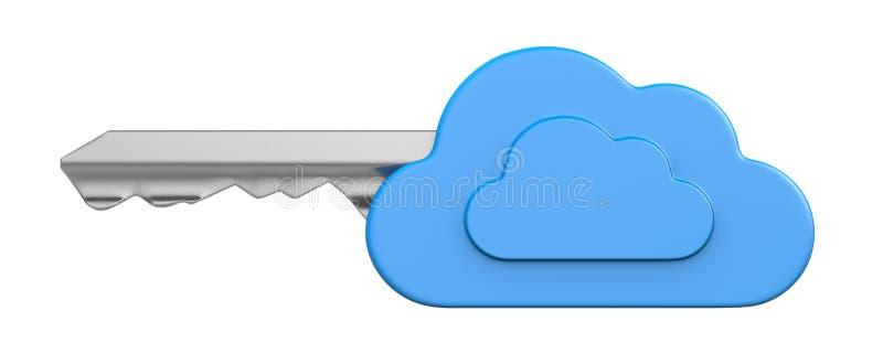 Chiave della nuvola isolata illustrazione di stock