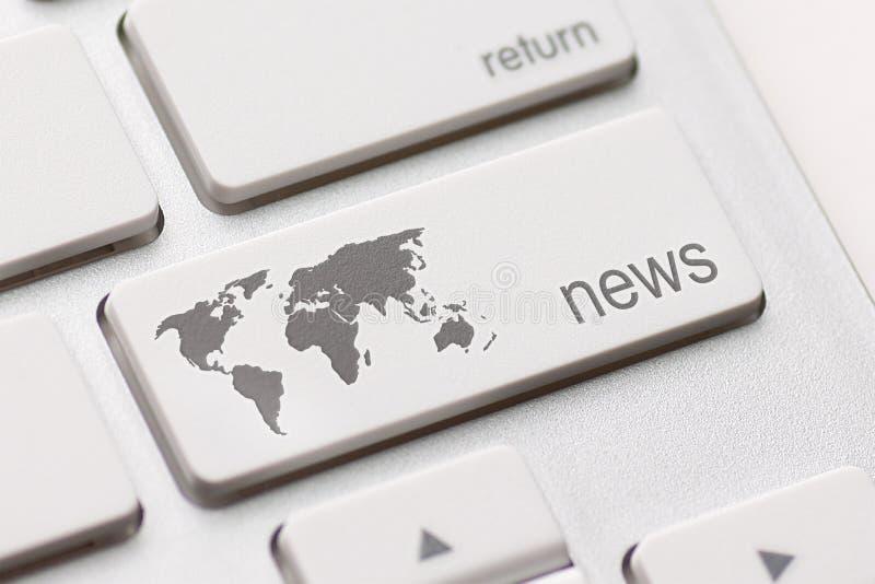 Chiave di notizie fotografia stock libera da diritti