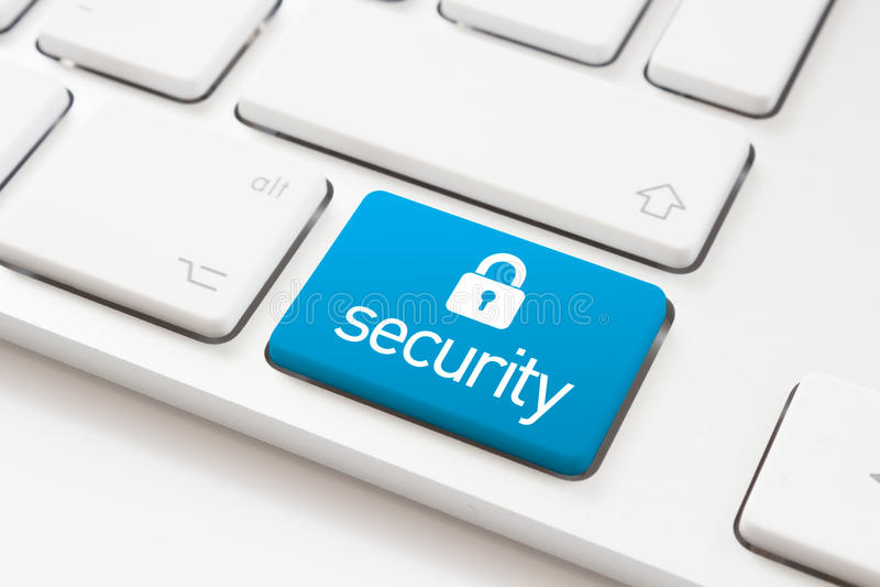 Chiave di sicurezza e segno della serratura fotografie stock