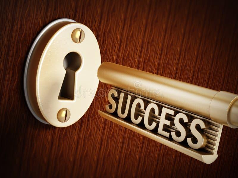 Chiave di successo immagine stock