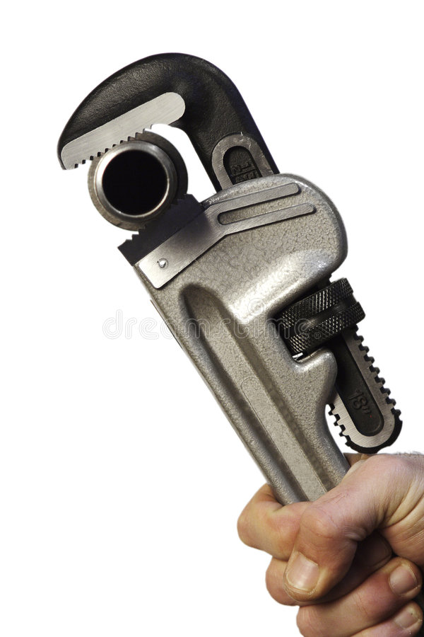 Chiave di tubo immagine stock