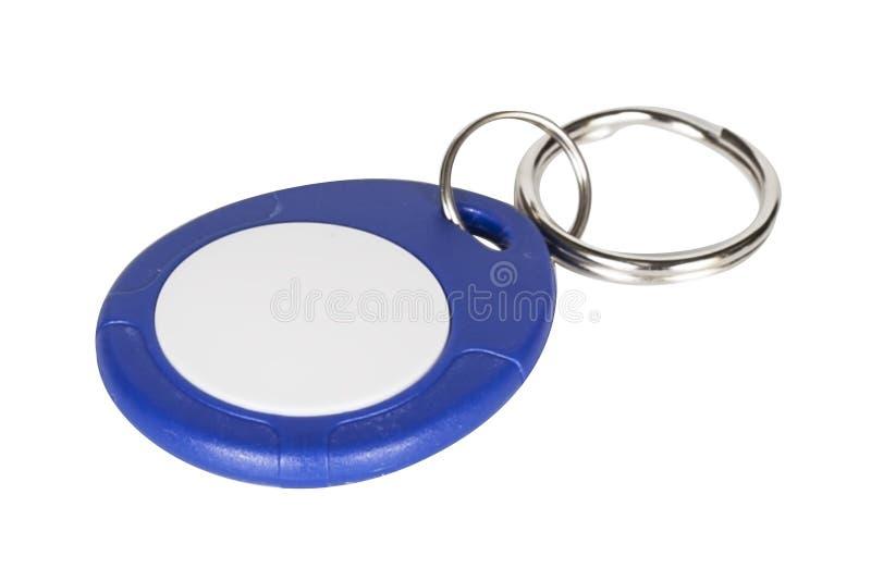 chiave elettronica della porta isolata su bianco fotografia stock libera da diritti
