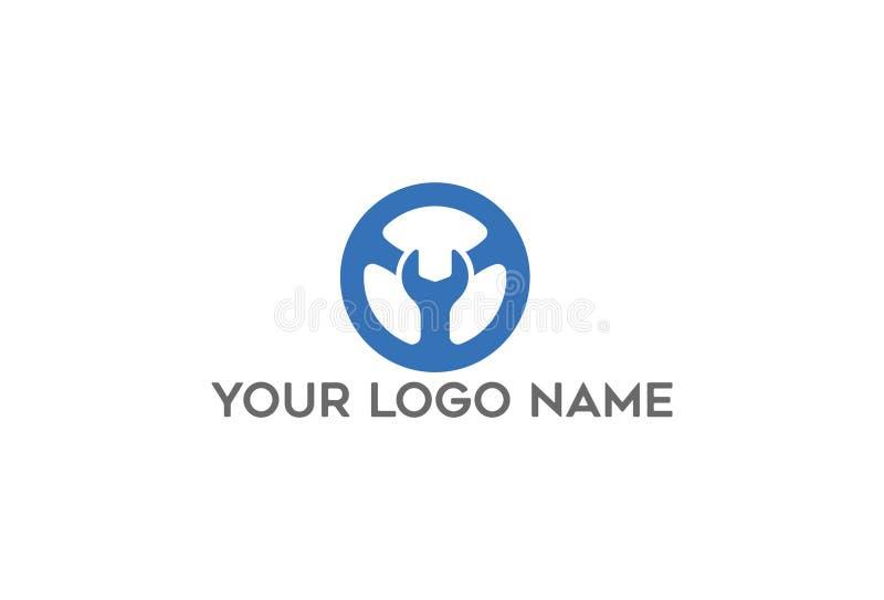 Chiave nella progettazione di logo del cerchio illustrazione vettoriale