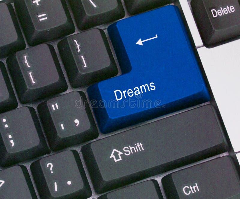Chiave per i sogni immagine stock