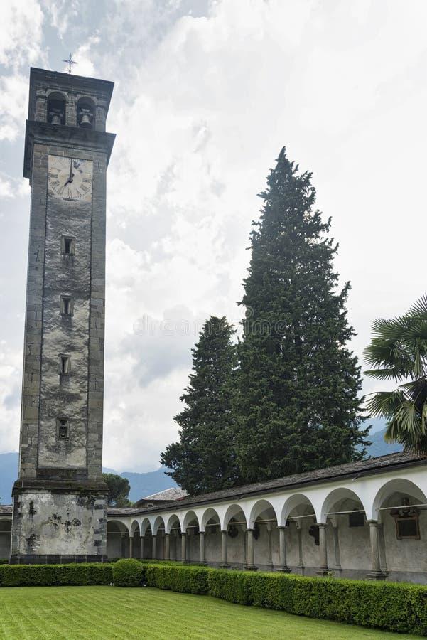 Chiavenna: μοναστήρι του SAN Lorenzo στοκ φωτογραφία με δικαίωμα ελεύθερης χρήσης