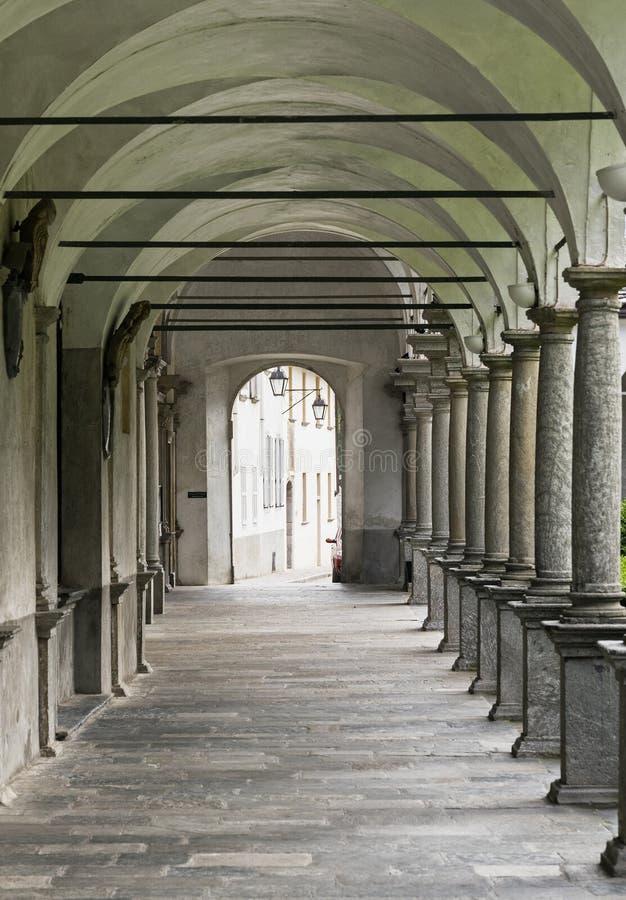 Chiavenna: μοναστήρι του SAN Lorenzo στοκ εικόνες με δικαίωμα ελεύθερης χρήσης