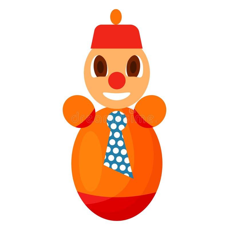 Chiavetta Colorful Toy da plastica isolata su bianco illustrazione di stock