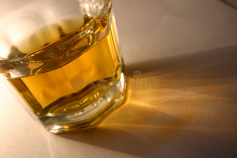 Chiavetta del whisky fotografie stock