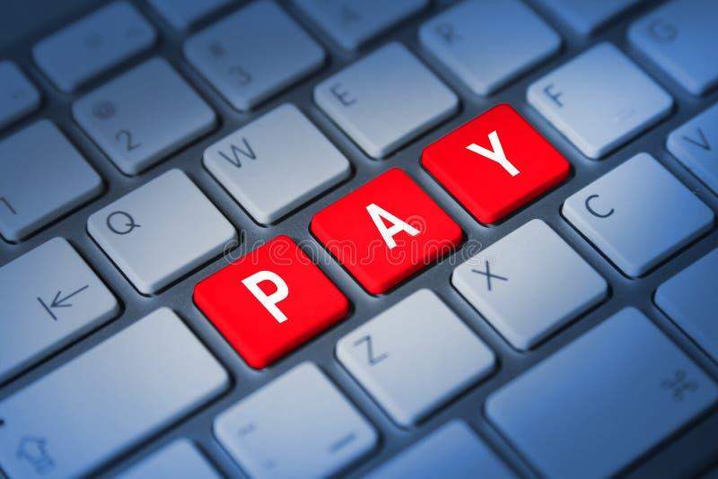 Chiavi di tastiera di paga immagini stock libere da diritti