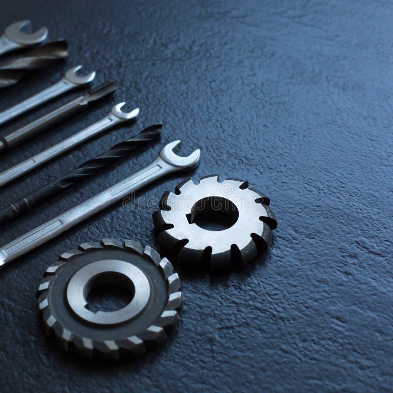 Chiavi, trapano, strumenti del tornio Fuoco molle immagine stock