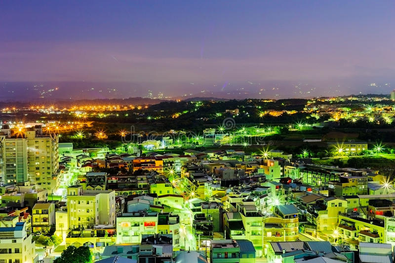 Chiayi city Taiwan. Chiayi city in Taiwan at night time royalty free stock image