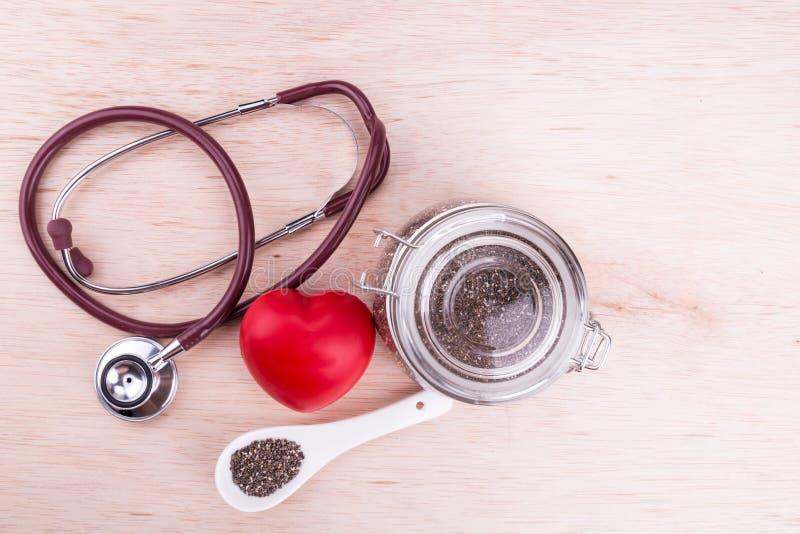 Chiazaden hoog in anti-oxyderend superfood goed voor hartgezondheid royalty-vrije stock afbeelding