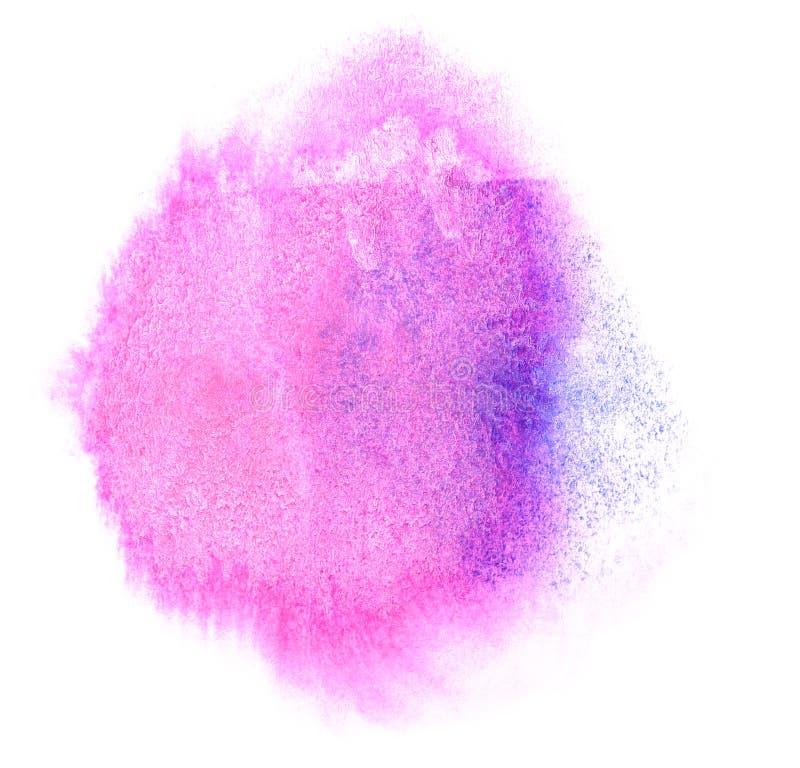 Chiazza porpora della pittura dell'inchiostro dell'acquerello di arte acquerella immagine stock libera da diritti