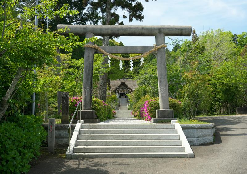 Takabe shrine in Chiba prefecture, Japan. The only shinto shrine in Japan worshiping cooking and kitch stock photo