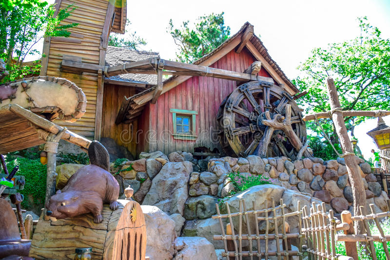 CHIBA, JAPAN: Beaver Brothers house in Critter Country, Tokyo Disneyland. Beaver Brothers house in Critter Country, Tokyo Disneyland stock images