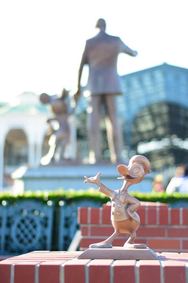 CHIBA, JAPAN: Donald Duck character statue at Tokyo Disney Resort, Urayasu, Japan royalty free stock images