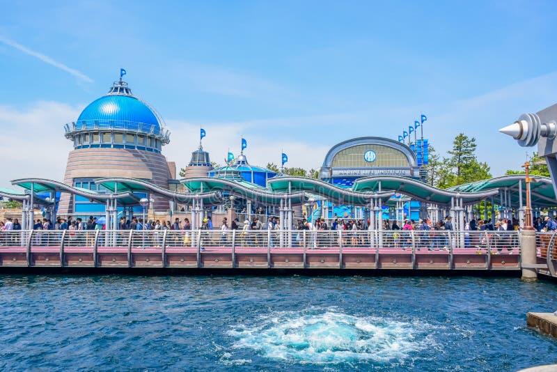 CHIBA, JAPAN: Het gebied van de havenontdekking in Tokyo Disneysea in Urayasu, Chiba, Japan wordt gevestigd dat stock fotografie