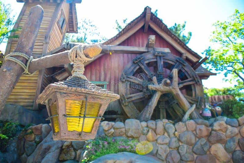 CHIBA, JAPAN: Lantern at Beaver Brothers house in Critter Country, Tokyo Disneyland. Lantern at Beaver Brothers house in Critter Country, Tokyo Disneyland stock image
