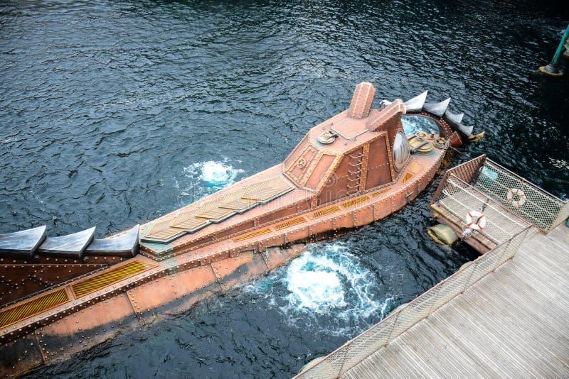 CHIBA, JAPAN - MAG, 2016: Geheimzinnige die Eilandaantrekkelijkheid in Tokyo Disneysea in Urayasu, Chiba, Japan wordt gevestigd stock afbeelding