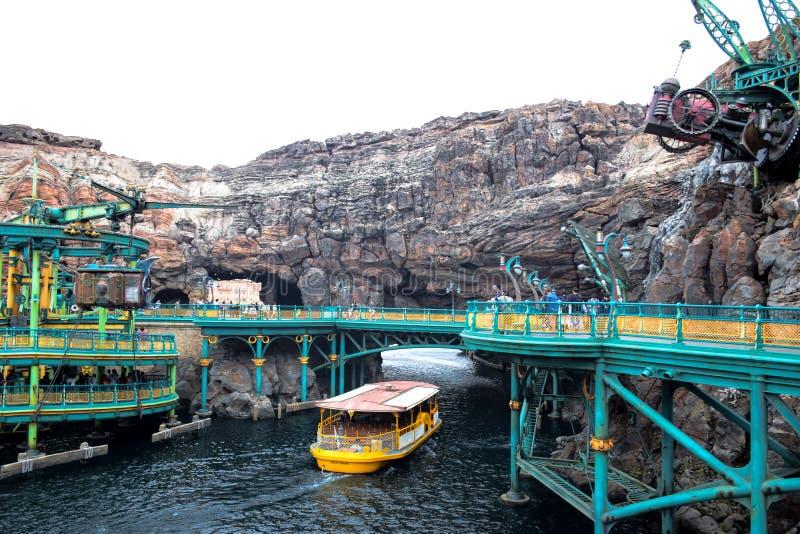 CHIBA, JAPAN - MAG, 2016: Geheimzinnige die Eilandaantrekkelijkheid in Tokyo Disneysea in Urayasu, Chiba, Japan wordt gevestigd stock foto