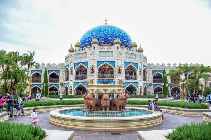 CHIBA, JAPAN - MAG, 2016: Het Arabische die gebied van de Kustaantrekkelijkheid in Tokyo Disneysea in Urayasu, Chiba, Japan wordt stock foto's