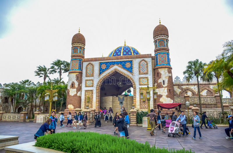 CHIBA, JAPAN: Arabian Coast attraction area in Tokyo Disneysea located in Urayasu, Chiba, Japan stock photos