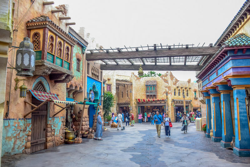 CHIBA, JAPAN: Arabian Coast attraction area in Tokyo Disneysea located in Urayasu, Chiba, Japan stock images