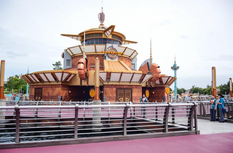 CHIBA JAPAN -, MAY 2016: Port upptäcktområde i Tokyo Disneysea som lokaliseras i Urayasu, Chiba, Japan royaltyfri fotografi