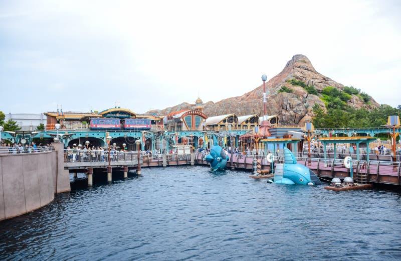 CHIBA JAPAN -, MAY 2016: Port upptäcktområde i Tokyo Disneysea som lokaliseras i Urayasu, Chiba, Japan arkivfoto