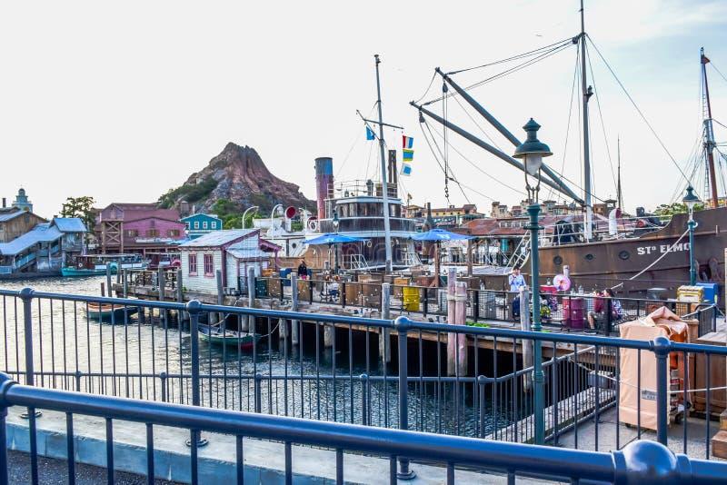 CHIBA, JAPAN: Mediterrane die Havenaantrekkelijkheid in Tokyo Disneysea in Urayasu, Chiba, Japan wordt gevestigd stock fotografie