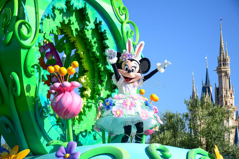 CHIBA, JAPON : Défilé de jour Urayasu, Japon de Tokyo Disneyland Pâques image libre de droits
