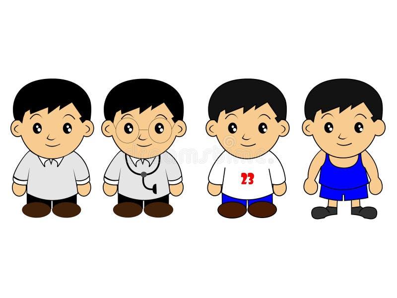 Chibi Anime royaltyfri illustrationer