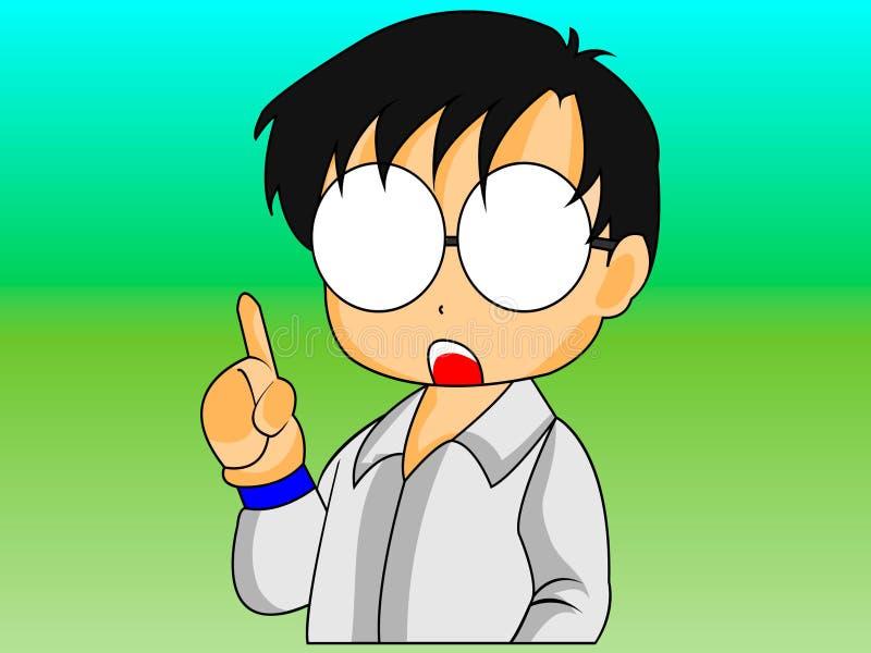 Chibi Animepolitiker Character arkivfoto