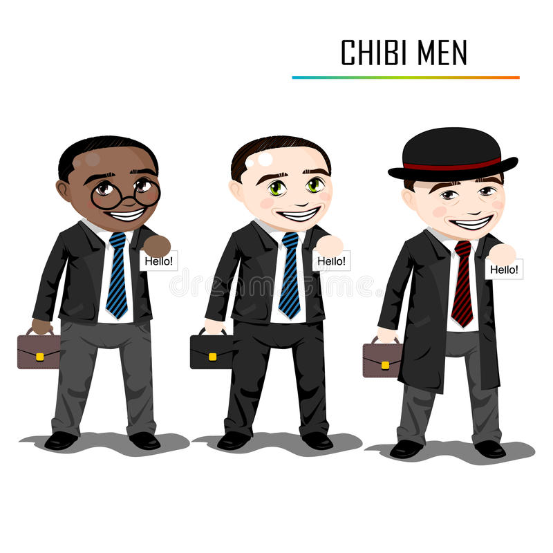Download Chibi businessman vector stock vector. Image of character - 34437193