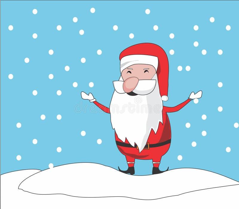 Chibi de Papai Noel fotografia de stock