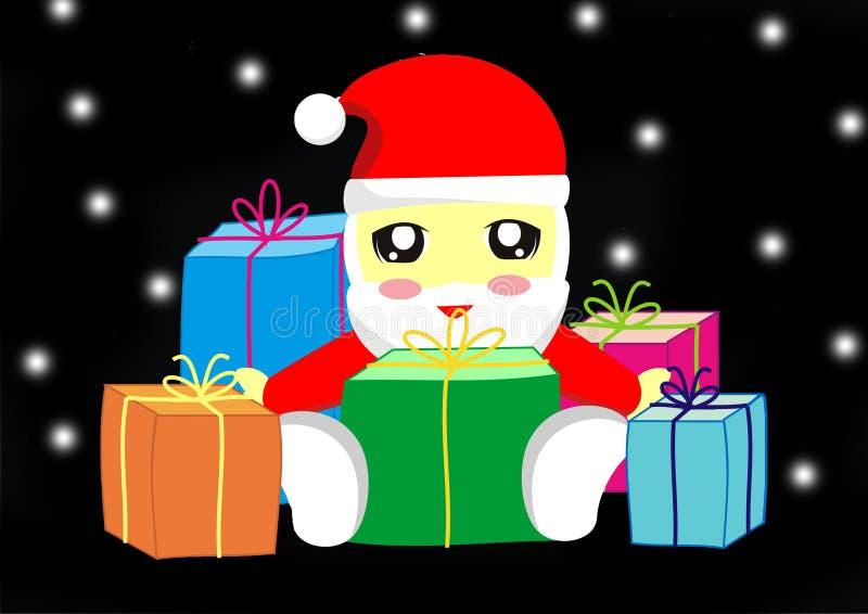Chibi-Weihnachten lizenzfreie stockfotografie