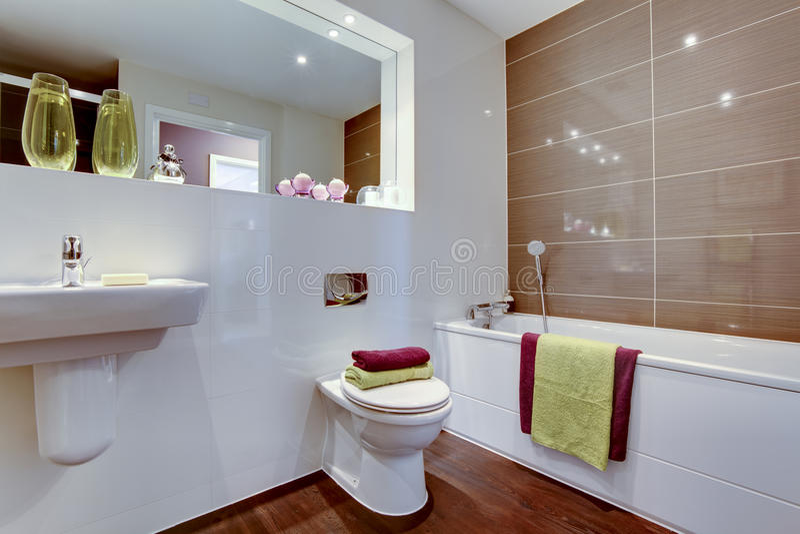 Chic Contemporary Bathroom Stock Photo
