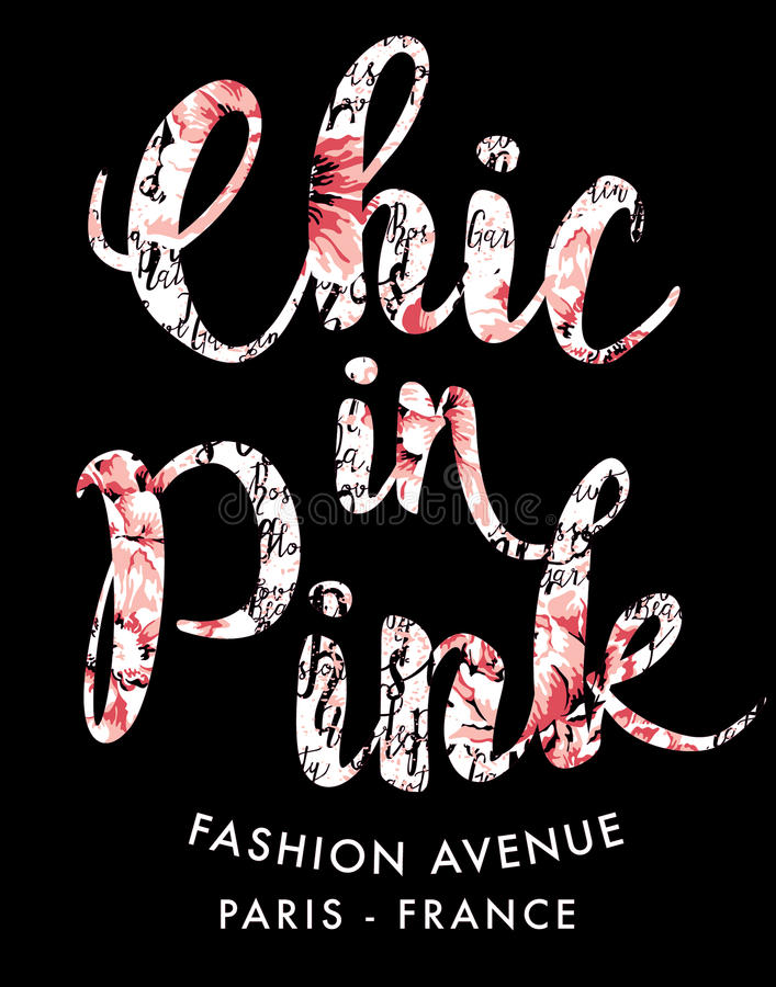 Chic in pink fashion stock illustration