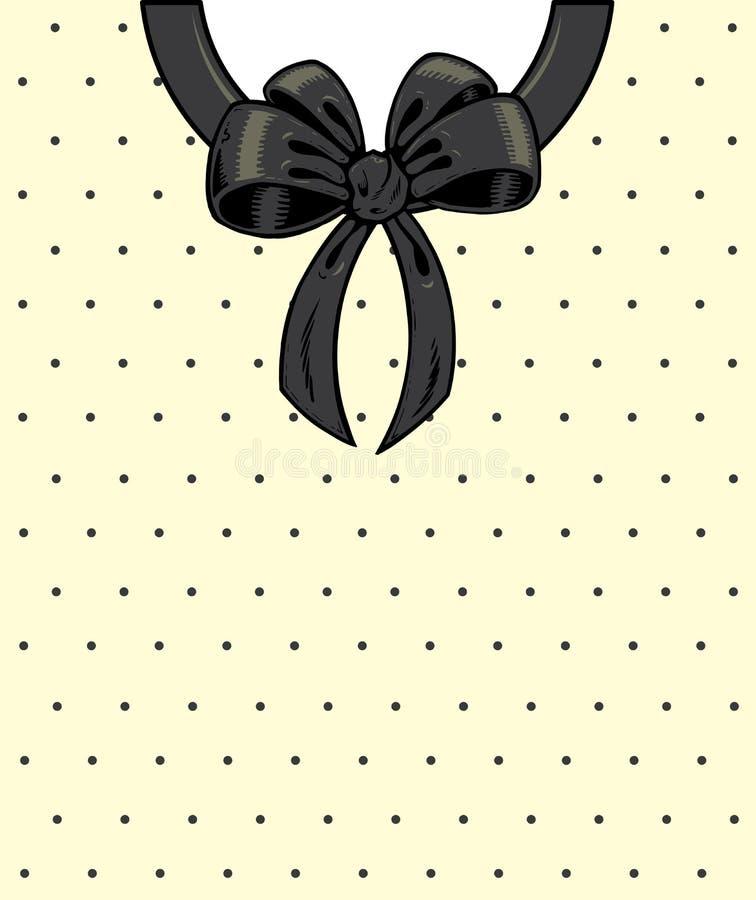 Download Chic polka dots and ribbon stock vector. Image of concept - 10351704