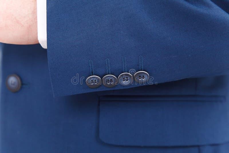 Chic and stylish suit. Business, neckline, classical, elegance. Chic and stylish suit, fashion background / Button suit stripe / Business, neckline stock images