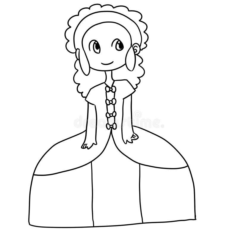 Chica joven stock de ilustración