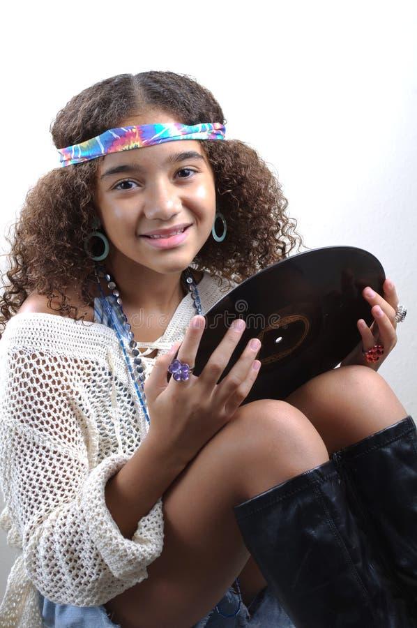 Chica joven con el expediente imágenes de archivo libres de regalías