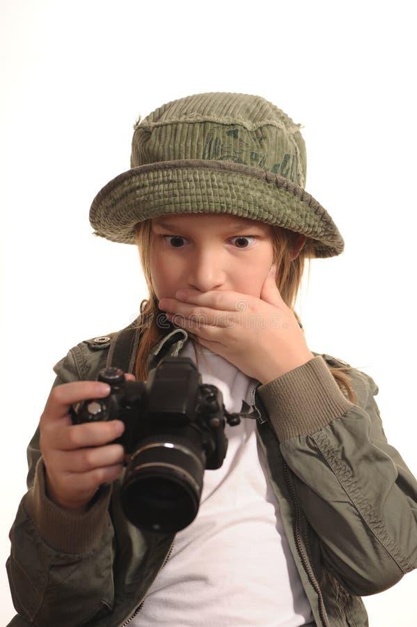 Download Chica Joven Con SLR-como Las Cámaras Digitales Foto de archivo - Imagen de como, modelo: 7289200