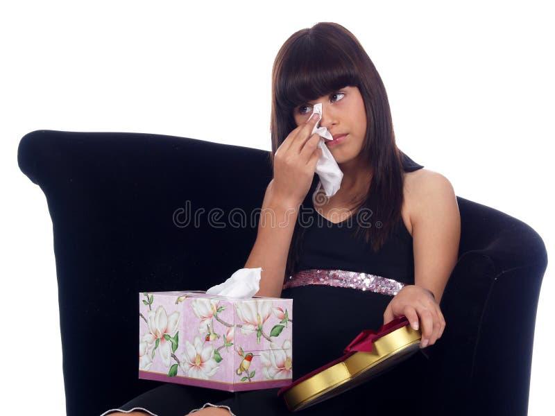 Chica joven con una angustia imágenes de archivo libres de regalías
