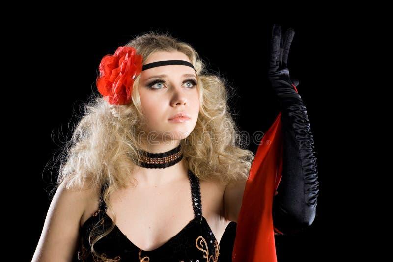 Chica joven apasionada del retrato en la danza. fotos de archivo libres de regalías